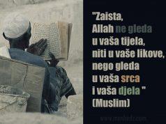 Zaista Allah ne gleda u vase likove